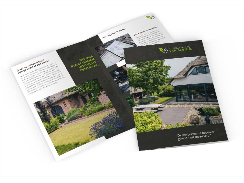Brochure ontwerp Hoveniersbedrijf van Bentum