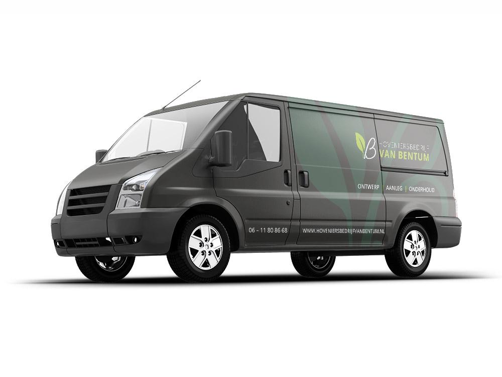 Bus ontwerp Hoveniersbedrijf van Bentum