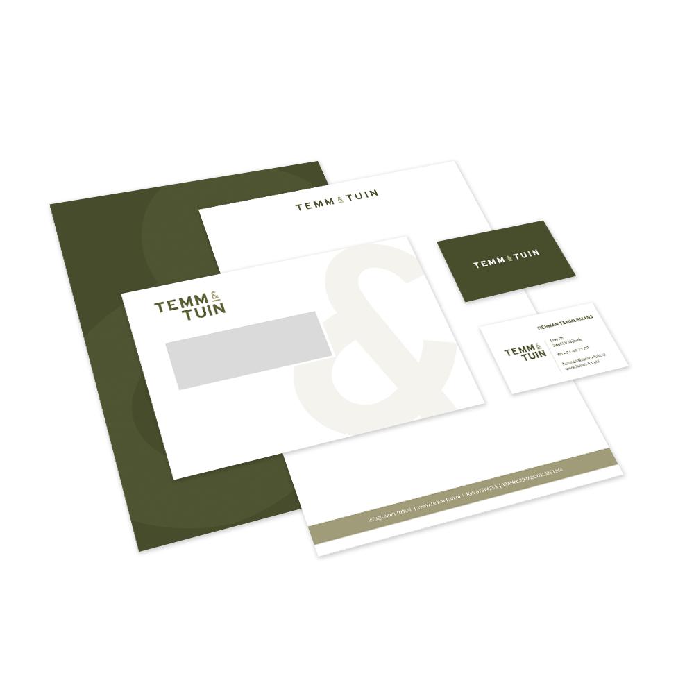 Huisstijl ontwerp TEMM & TUIN