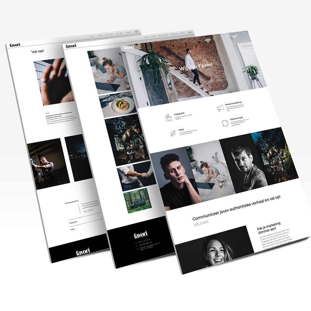 Website ontwerp Favori