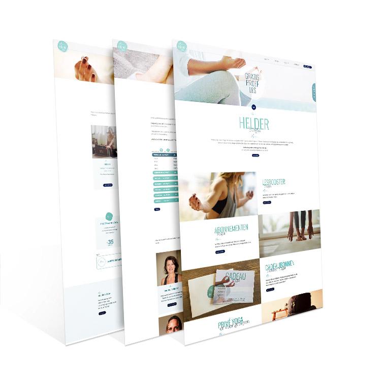 Website ontwerp Helder Yoga