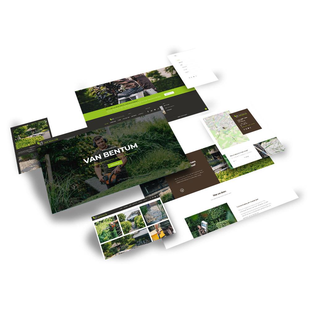 Website ontwerp Hoveniersbedrijf van Bentum