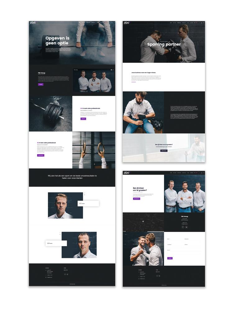 Website ontwerp PBC Group