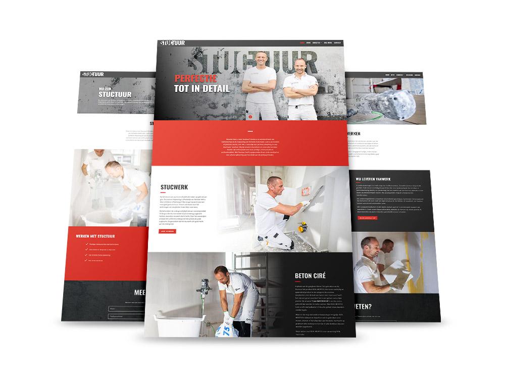 Website ontwerp Stuctuur